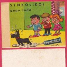 Coleccionismo Papel secante: PAPEL SECANTE SYNKOLIKOL. PEGA TODO. ILUSTRACION DE CONTI.. Lote 197432982