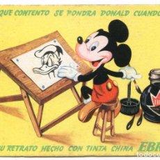 Coleccionismo Papel secante: PAPELERÍA MAOÑO, SANTANDER, TINTA CHINA EBRO. WALT DISNEY PAPEL SECANTE 13X9,5 CM. NUEVO. Lote 92712420