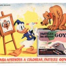 Coleccionismo Papel secante: PAPELERÍA MAOÑO, SANTANDER, PASTELES GOYA. WALT DISNEY PAPEL SECANTE 13X9,5 CM. NUEVO. Lote 92712485