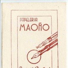 Coleccionismo Papel secante: PAPELERÍA MAOÑO, SANTANDER, REPARACIÓN DE ESTILOGRÁFICAS. PAPEL SECANTE 13,2X9,4 CM. NUEVO. Lote 92712795