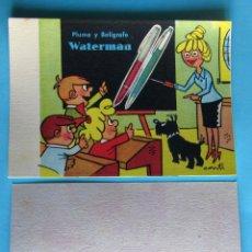 Coleccionismo Papel secante: PAPEL SECANTE WATERMAN. PLUMA Y BOLÍGRAFO WATERMAN. WATERMAN'S. ILUSTRACION DE CONTI.. Lote 109334114