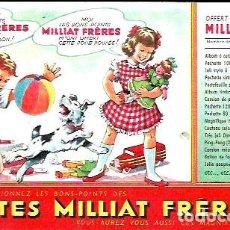 Coleccionismo Papel secante: SECANTE * PATES MILLIAT FRÈRES * ( BUVARD ). Lote 95826515