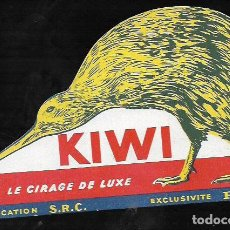 Coleccionismo Papel secante: SECANTE SILUETA TROQUELADA * KIWI * ( BUVARD ). Lote 95832091
