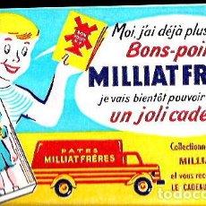 Coleccionismo Papel secante: SECANTE * PATES MILLIAT FRÈRES * ( BUVARD ). Lote 95832527