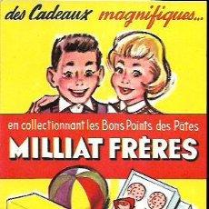 Coleccionismo Papel secante: SECANTE * PATES MILLIAT FRÈRES * ( BUVARD ). Lote 95832595