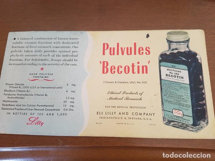 CUBA PAPEL SECANTE BECOTIN LILLY USA (Coleccionismo - Papel Secante)