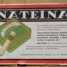 Coleccionismo Papel secante: MEDICAMENTO NATEINA - LABORATORIOS LLOPIS. Lote 96055707