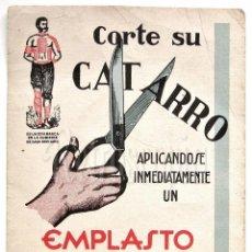 Coleccionismo Papel secante: PAPEL SECANTE PUBLICIDAD EMPLASTO DR. WINTER. CATARROS Y GRIPES. FARMACIA. AÑOS 20 (SECANTES). Lote 96513123