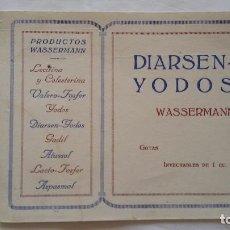 Coleccionismo Papel secante: PAPEL SECANTE DIARSEN -YODOS WASSERMANN GOTAS INYECTABLES DE 1 CC Y OTROS PRODUCTOS WASSERMANN -. Lote 97152399