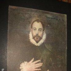 Coleccionismo Papel secante: SECANTE EL CABALLERO DE LA MANO EN EL PECHO EL GRECO PUBLICIDAD ARTES GRAFICAS LERCHUNDI BILBAO. Lote 97670667