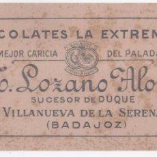 Coleccionismo Papel secante: ANTIGUO PAPEL SECANTE CHOCOLATES LA EXTREMEÑA M. LOZANO ALONSO. VILLANUEVA DE LA SERENA ( BADAJOZ ). Lote 97906239