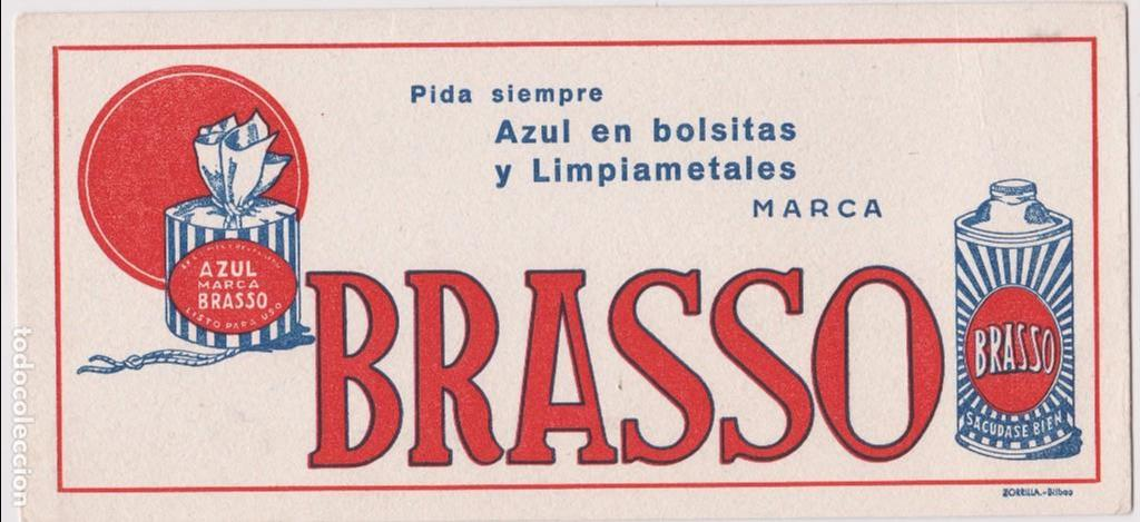 BRASSO AZUL EN BOLSITAS Y LIMPIAMETALES (Coleccionismo - Papel Secante)