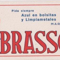 Coleccionismo Papel secante: BRASSO AZUL EN BOLSITAS Y LIMPIAMETALES. Lote 99399711