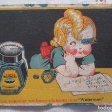 Coleccionismo Papel secante: ANTIGUO PAPEL SECANTE WATERMAN. Lote 99788003