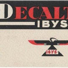 Coleccionismo Papel secante: PAPEL SECANTE DECALTON IBYS. Lote 102371471