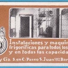 Coleccionismo Papel secante: PUIG Y CIA. INSTALACIONES Y MAQUINARIA FRIGORÍFICA. BARCELONA. G-4. SECANTE. Lote 102616175