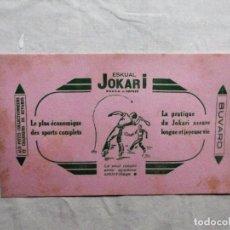 Coleccionismo Papel secante: EUSKAL JOKARI EN EUSKERA DE IPARRALDE PAPEL SECANTE. Lote 103140467