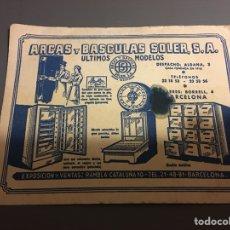 Coleccionismo Papel secante: SECANTE ARCAS Y BÁSCULAS SOLER BARCELONA. Lote 108821399