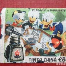 Coleccionismo Papel secante: SECANTE PUBILCIDAD TINTA CHINA EBRO ,DISNEY , ORIGINAL. Lote 109391199