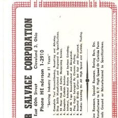 Coleccionismo Papel secante: PAPEL SECANTE, PUBLICIDAD, CUTTER SALAGE CORPORATION, SIN USAR. Lote 109401407