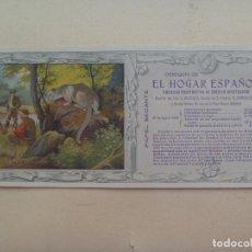 Coleccionismo Papel secante: PAPEL SECANTE OBSEQUIO EL HOGAR ESPAÑOL. 1912. Lote 109698451