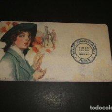 Coleccionismo Papel secante: SECANTE AÑOS 20 ART DECO MANUEL SANCHEZ ROMATE VINOS FINOS Y COÑAC JEREZ DE LA FRONTERA CADIZ. Lote 109790087