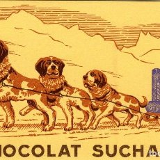 Coleccionismo Papel secante: CHOCOLATE SUCHARD-MILKA. SECANTE ANTIGUO. ORIGINAL DE ÉPOCA. TAMAÑO 13X 21,5 CM.. Lote 111374095