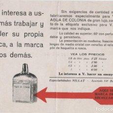 Coleccionismo Papel secante: PUBLICIDAD ANTIGUA AGUA DE COLONIA. Lote 113144499