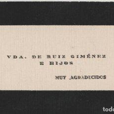 Coleccionismo Papel secante: ANTIGUA TARJETA DE AGRADECIMIENTO. Lote 113145163