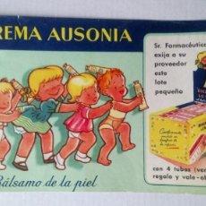 Coleccionismo Papel secante: PAPEL SECANTE PUBLICIDAD DE BIOCREMA AUSONIA. MEDIDAS 20 CM X 11 CM APROX. Lote 118523919