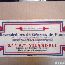 Coleccionismo Papel secante: SOCIEDAD A. VILARDELL. BARCELONA. ANTIGUO PAPEL SECANTE. Lote 120720095