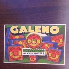 Coleccionismo Papel secante: ANTIGUO SECANTE PUBLICIDAD ESPARADRAPOS GALENO, 14 X 9 CM. Lote 120873343