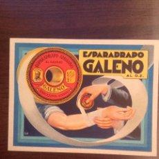 Coleccionismo Papel secante: ANTIGUO SECANTE PUBLICIDAD ESPARADRAPO GALENO, 15.5 X 11.5 CM. Lote 120873527