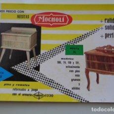 Coleccionismo Papel secante: VALENCIA. SECANTE PUBLICIDAD. MUEBLES MOCHOLÍ. MESITAS. 1961. BUEN ESTADO. Lote 120985887