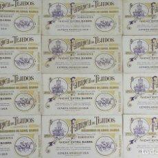 Coleccionismo Papel secante: COLECCIÓN DE 12 HOJAS DE PAPEL SECANTE. FABRICA DE TEJIDOS ANGEL BABRA. SIGLO XX.. Lote 123490503