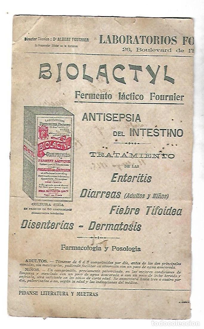 PAPEL SECANTE. FERMENTO LACTICO FOURNIER. BIOLACTYL. 15 X 25CM (Coleccionismo - Papel Secante)