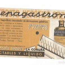 Coleccionismo Papel secante: PAPEL SECANTE. EXTRACTO HEPATICO ORZAN. HEPAGASTRON. LA CORUÑA. 21 X 12CM. Lote 125055479