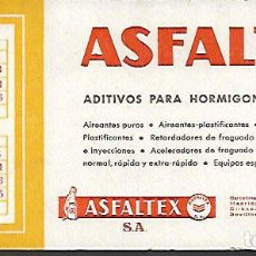 Coleccionismo Papel secante: SECANTE * ASFALTEX * AÑO 1961. Lote 126796919