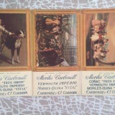 Coleccionismo Papel secante: TRES SECANTES CARBONELL. Lote 128314332