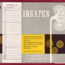 Coleccionismo Papel secante: PAPEL SECANTE- NOVIEMBRE 1952. Lote 128383163