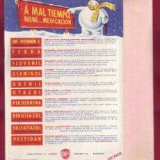 Coleccionismo Papel secante: PAPEL SECANTE- LABORATORIO DR. ANDREU. Lote 128383631