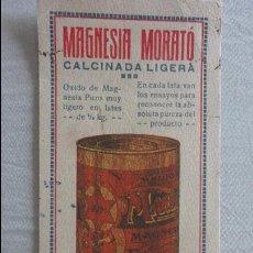 Coleccionismo Papel secante: ANTIGUO PAPEL SECANTE.MAGNESIA MORATÓ.VDA DE JOSE MORATÓ.PALAUTORDERA.BARCELONA. Lote 128672451