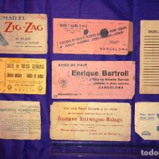 Coleccionismo Papel secante: LOTE DE PAPEL SECANTE ANTIGUO.. Lote 130188863