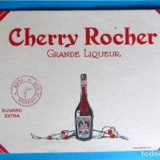 Coleccionismo Papel secante: PAPEL SECANTE. CHERRY ROCHER. GRANDE LIQUEUR. TAMPÓN DE HOTEL DU LUXEMBURG.. Lote 131342670