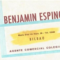 Antiguo papel secante benjamin espinosa agente comprar papel secante antiguo en todocoleccion - Agente comercial colegiado ...
