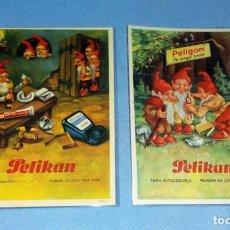 Coleccionismo Papel secante: 2 TARJETAS DE PUBLICIDAD PELIKAN ORIGINALES EN PERFECTO ESTADO VER DESCRIPCION. Lote 131941358