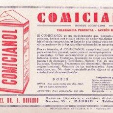 Coleccionismo Papel secante: PAPEL SECANTE - COMICIANOL / MADRID. Lote 132783042
