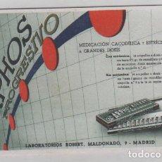 Coleccionismo Papel secante: PUBLICIDAD DE FARMACIA SECANTE. ARPHOS PROGRESIVO. LABORATORIOS ROBERT MADRID.. Lote 133216774