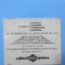 Coleccionismo Papel secante: ANTIGUO PAPEL SECANTE RUDY MEYER. Lote 133897294