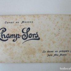 Coleccionismo Papel secante: PAPEL SECANTE - CHAMP SORS - CAVAS EN MASNOU - AÑOS 30. Lote 135295322